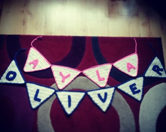 Personalised Crochet Name Bunting