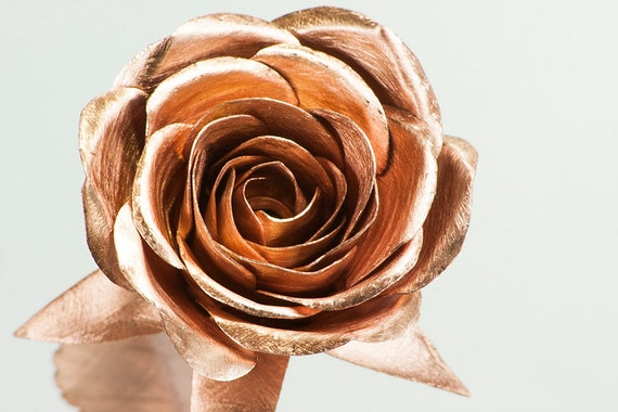 Kupfer Stieg Eine Halbe Bl 252 Te Metall Rosen Immer Blumen Bl 252 Hen