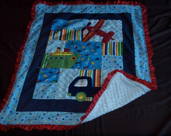 Automobile Theme baby blanket