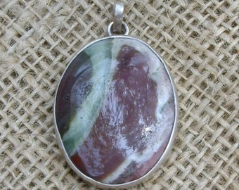 Silver Encircled Agate (Chalcedony Crystal)