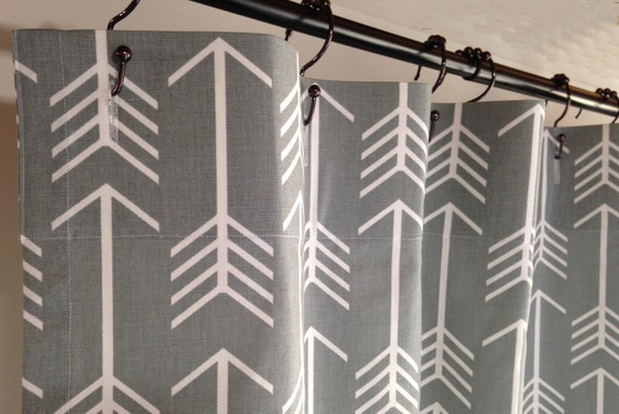 Fabric Shower Curtain Designer Fabric Arrow Cool By