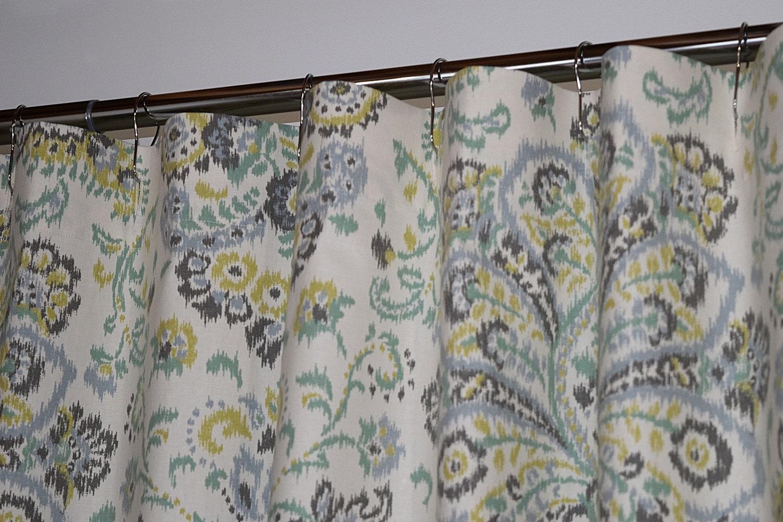 Custom Fabric Shower Curtain Stall 54 X 78 72 X 84 108 Extra