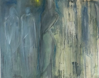 Original Abstract Figure Painting