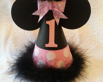 Handmade Minnie Mouse inspired party hat