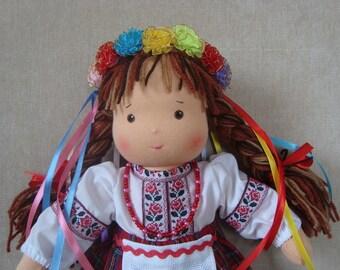 waldorf doll, folk doll, organic doll, Ukrainian folk doll, rag doll, fabric doll, textile doll, folk outfit