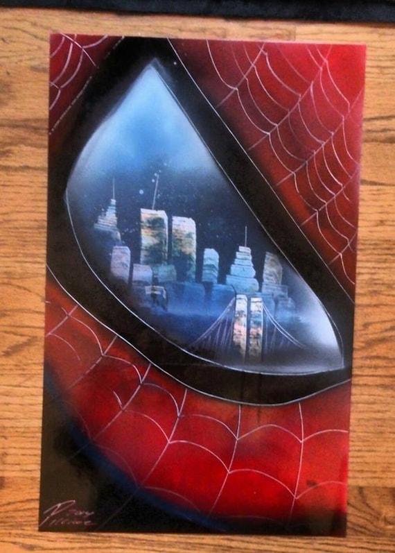Spray Paint Art New York Spiderman