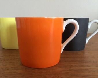Mid Century Porcelain 6 pc Espresso Set by OMC Japan