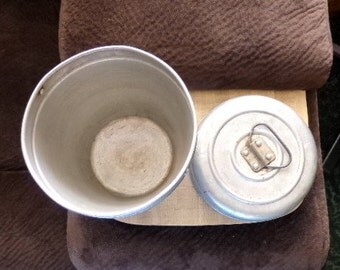 Vintage Wear-Ever Miners lunch pail, ice bucket from the 1930's, home décor, business décor, man cave décor