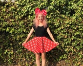 Minnie Mouse Inspired Disneybound Circle Skirt