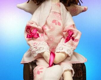 Rosalie the Angel of Pregnancy OOAK, tilda doll, pregnant angel, angels, pregnancy