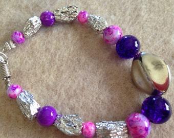 Shades of Purple bracelet