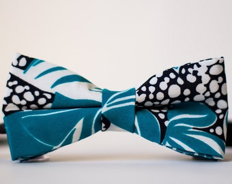 Patterned Vintage Silk Men's Bow Tie