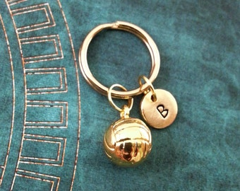 Volleyball Keychain VERY SMALL Volleyball Keyring Volleyball Team Gift Personalized Keychain Volleyball Gift Coach Gift Sports Keychain