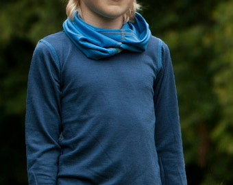 Navy Blue Long Sleeved Top | Merino Wool Top | Boys Top | Singlet | Base Layers