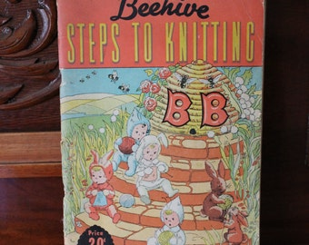1950s Beehive Pattern Book, Steps to Knitting, Series No 25