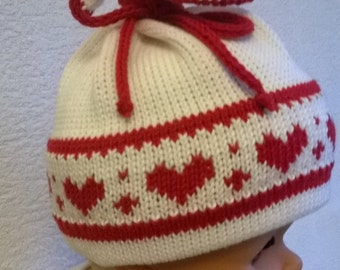 White knitted hat for kid 6 - 10  months made of cotton