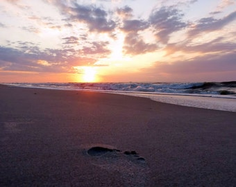 Sunrise Beach Impression Toes In The Sand Topsail Island Photography Morning Ocean Scenery