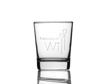 Business Logo On A Glass Tumbler