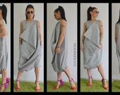 Grey maxi jumpsuit /Oversize sleeveless jumpsuit /Casual Loose Oversized Gray Top /innovative Jumpsuit / plus size jumpsuit
