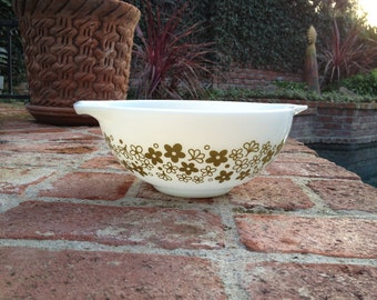 Pyrex Spring Blossom Cinderella Nested Mixing Bowl 2.5 Quart 443 Olive Green