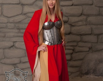 "Larp Female Fantasy Women  Costume ""Cersei"" steel armor corset Games of Thrones Lannister"