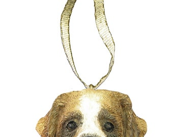 Saint Bernard Ornament With Personalized Name Plate A Great Gift For Saint Bernard Lovers