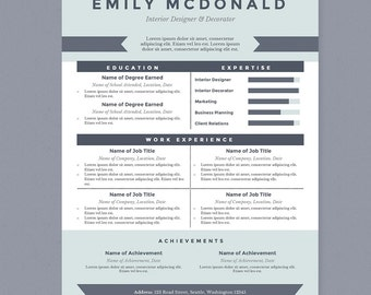 Pastel Resume & Cover Letter Template Clean Template Package
