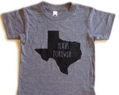 Texas Forever kids tee in athletic grey