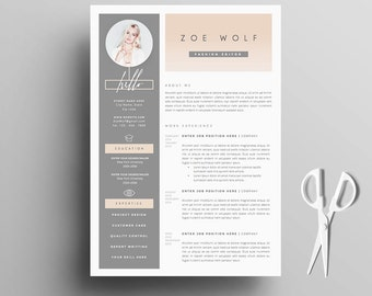 Resume Template And Cover Letter + References Template For Word | DIY  Printable 5 Pages |  Template For Cover Letter For Resume