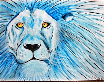 Horoscope painting, leo, wall decor