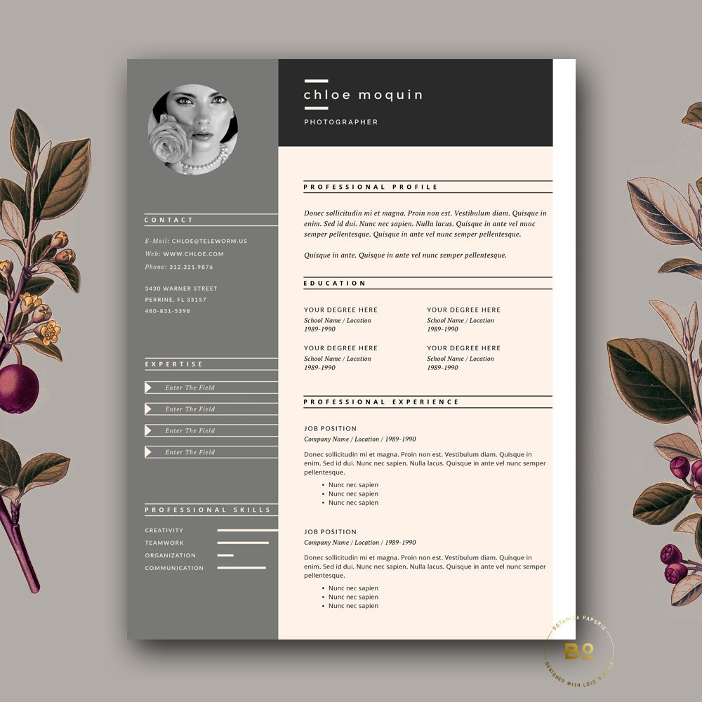 modern resume template cover letter template for word and resume template and cover letter for word pages 3 page resume template fashion cv template editorial resume design portfolio theme