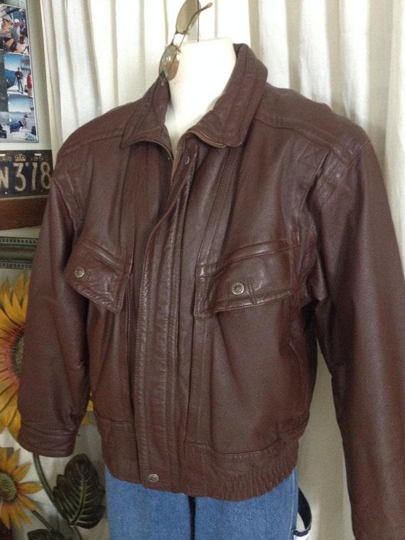 St johns bay leather jacket