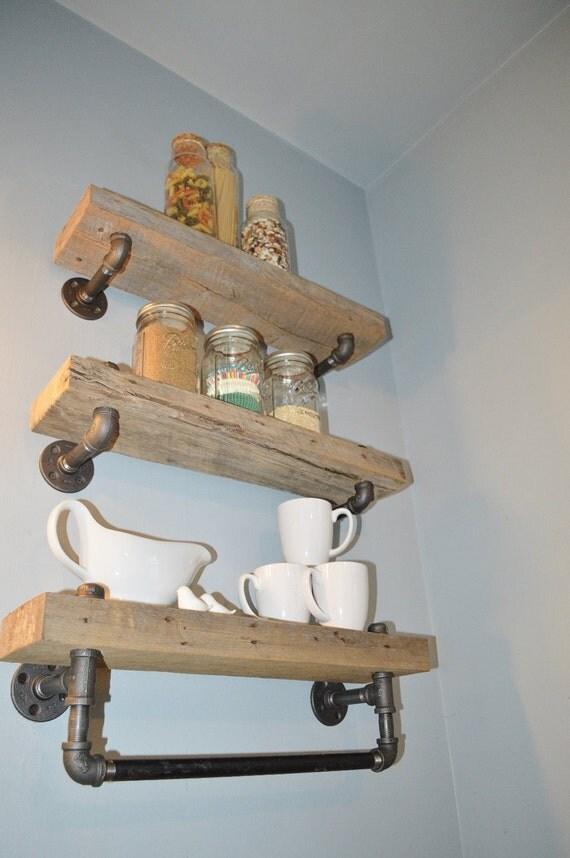 Model Barn Wood Towel Bar Bathroom Shelf
