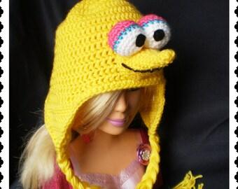 Big Bird Crochet Hat Made with Soft yarn