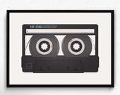 Cassette print, Pop art print, Vintage poster, Retro poster, Mixtape print, Modern print poster, Music art, Music poster, Cassette poster