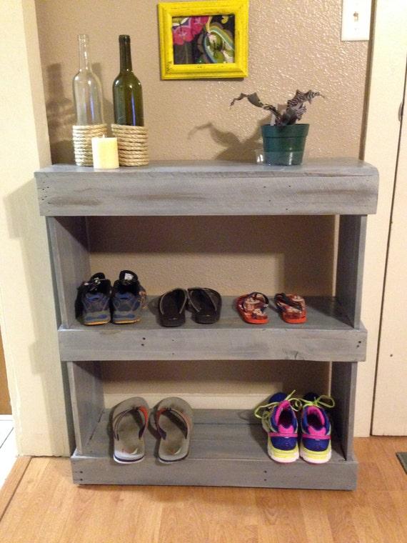 items similar to rustic shoe shelf reclaimed wood shelf wooden shoe shelf weathered shoe. Black Bedroom Furniture Sets. Home Design Ideas