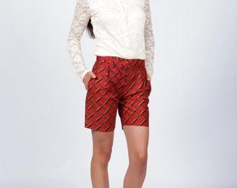 Red Womens Shorts, Shorts
