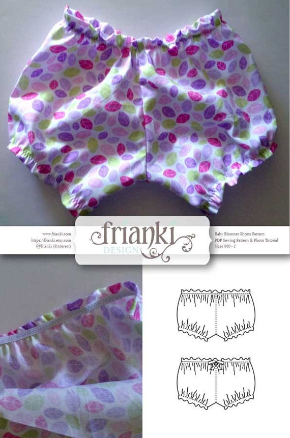 Baby Bloomer Shorts - PDF Sewing Pattern and Photo Tutorial - Sizes ...