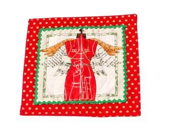 50% off! Christmas Design Teapot placemat/trivet/coaster, small centrepiece pair (see description)