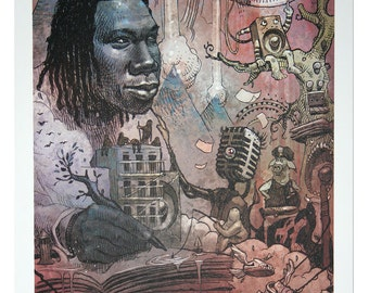 Krs-One A3 Lithograph Art Print