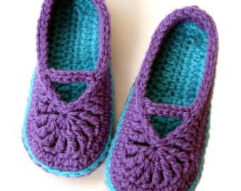 Crochet Pattern: Children's Mary Jane Skimmers