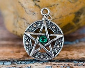Protected Life Pentacle Amulet ~ Green ~ Witchcraft ~ Wicca ~ Pagan