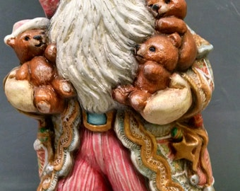 SALE!!!Victorian Santa -- Heirloom-quality handpainted ceramic Santa -- Christmas mantel decor