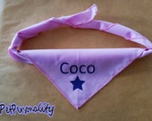 Personalised Dog Bandana with Star Print, Choice of Colours and Sizes