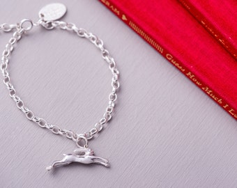 Guess How Much I Love You jewellery - leaping hare charm bracelet