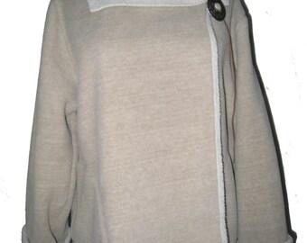 Fleece Concho Jacket Pebble