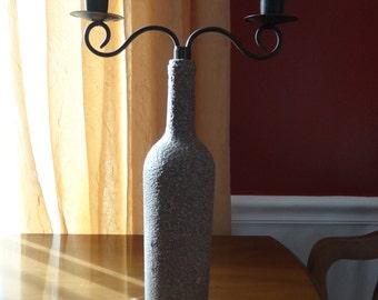 Stone Textured Wine Bottle Vase