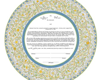 Joy & Happiness Ketubah by Mickie Caspi (12-2)