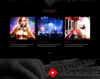 Individual Musician or Music Band Website Layout Design PSD Template