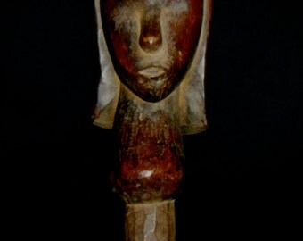 Fang Tribal Carved Reliquary Statue Original, Traditional, Old, Cameroon African Figure